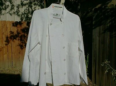 Chef Coats 2 White size Large $12.00 for Both Coats