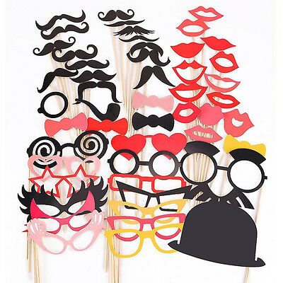 50pc DIY Mask Photo Booth Props Mustache On A Stick Wedding Birthday Party