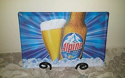 Alpine Lager Tin Beer Sign