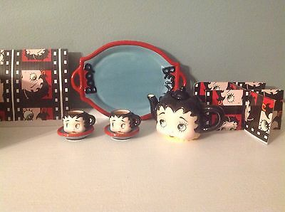 Collecible Betty Boop Mini Teaset By Vandor  With Original Box