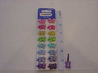 Butterfly/butterflies  *16 Hair Clips/Snaps/hairclips