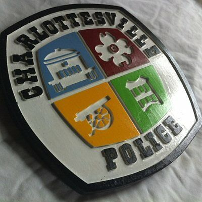 Police Charlottesville 3D routed carved  patch plaque sign Wooden