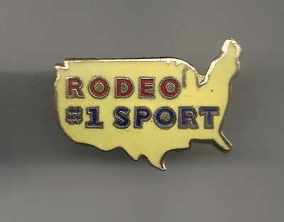 Vintage Rodeo # 1 Sport Continental USA old cloisonne pin