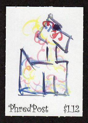 PhredPost artistamp from the Poodles series 2007 Australia
