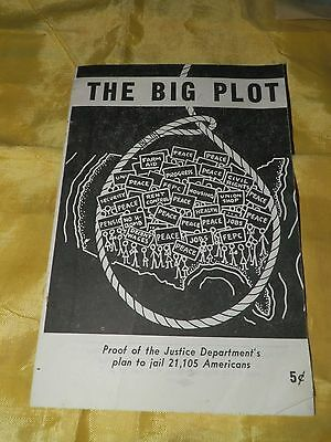 """Scarce 1950 Dated Communist Party Related Booklet, """"The Big Plot"""""""