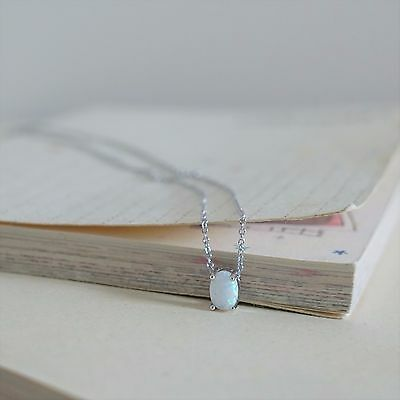 Brand New 925 Sterling Silver Opal Pendant Necklace/ Earrings/ Ring Set Gift