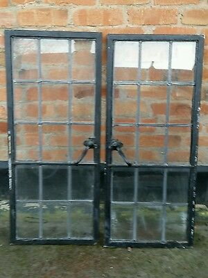 Pair of Original 1920s 30s Leaded Crittall Windows