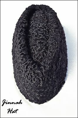 dc319b2f6b4 100% Brand New Karakul Persian Lamb Broad tail Kufi Fur Hat Russian Jinnah  Cap