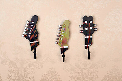 Hook Guitar Wall Rocking Style Rock and Roll Musical Decorative Coat 3Pieces/Set