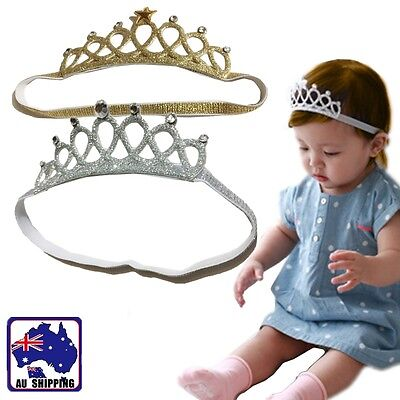 Baby Crown Headband Hair Band Kids Girl Infant Princess Toddler Jewelry JHBA412