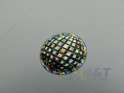 HOLOGRAPHIC LABELS STICKERS ROUND 20mm DIAMETER ORIGINAL GENUINE SECURITY LABEL