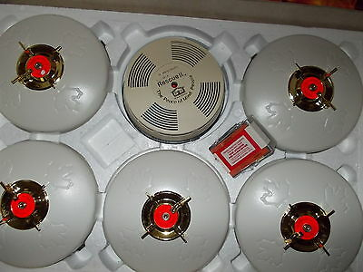 Fire Alarm Set of 5 for Home with Smoke Detector Vantronics Model RSII