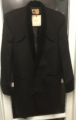 TEDDY BOY DRAPE JACKET IN BLACK 1950s ROCK 'N' ROLL TRADITIONAL TAILOR