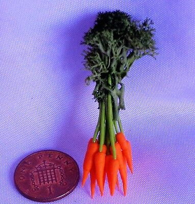 1:12 Scale One Bunch Of  Carrot Doll house Miniatures, Garden , Kitchen