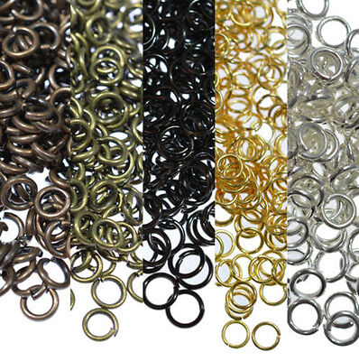 Lot 300/2000pcs 4/6/8mm Silver Gold Jump Rings Open Connectors Jewelry Finding