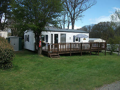 CARAVAN MOBILE HOME HIRE 22 July - 26 Aug 7 Nights Brittany France 6-8 berth