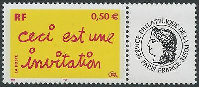 "FRANCE 2004 N°3636A**  TIMBRE PERSONNALISE gomme brillante & logo ""CERES"" TTB"