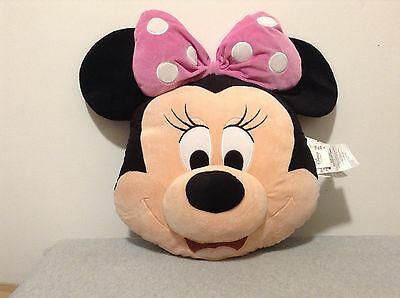 Disney Store Large Minnie Mouse Plush Head Cushion Pillow - NICE! (#CBn2-.2)