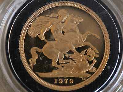 1979 St George and the Dragon Gold Proof Full Sovereign Coin Boxed K91