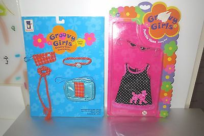 Groovy Girls Clothes Poochie Mama Dress & Clad in Plaid Accessories  New on Card