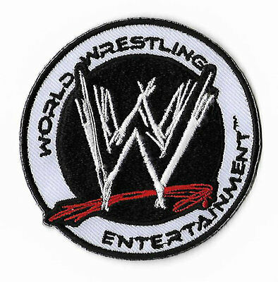"""WWE Patch 3"""" World Wrestling Entertainment Embroidered Iron on Badge Hat Cap Bag"""