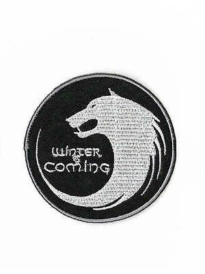Winter is Coming Patch House Stark Emblem Embroidered Badge Game of Thrones Wolf