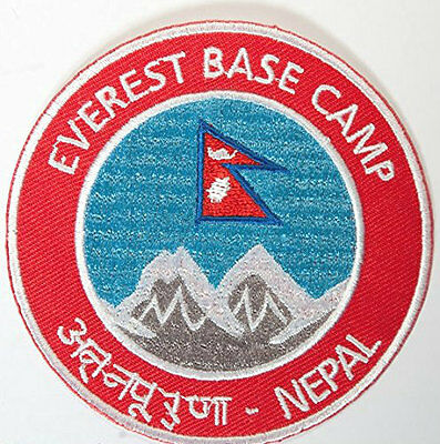 Mount Everest Base Camp Nepal Patch Embroidered Badge Souvenir Mountain Climbing