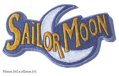 Sailor Moon Logo Patch Embroidered Iron on Badge Magic Retro Costume Cosplay NEW