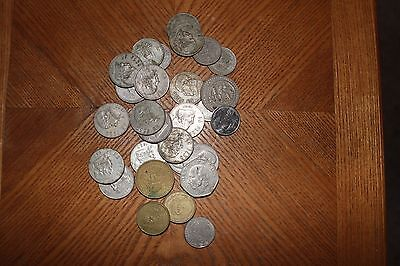 Mexican Circulated Coins Various Denominations And Years.
