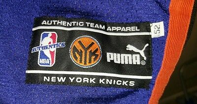 PUMA Authentic New York Knicks Patrick Ewing #33 NBA jersey Size 52 NWOT Rare