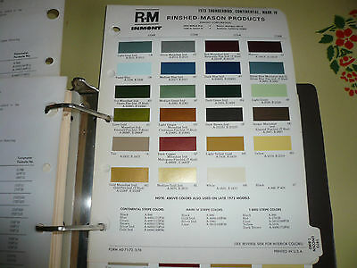 1973 Lincoln Continental Mark IV Thunderbird R-M Color Chip Paint Sample