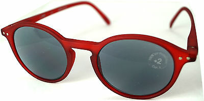 see concept Lese- Sonnenbrille Red Crystal Soft Grey Lenses