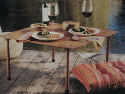 Camping Picnic Collapsible Carriable Wooden Table & Canvas Bag - Lovelynvin