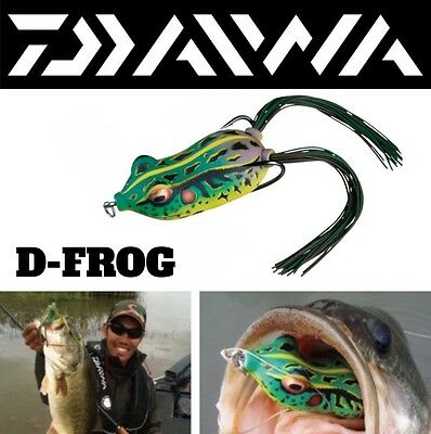 Weedless Soft Spinning Lure For Pike,bass&catfish Daiwa D-Frog 60