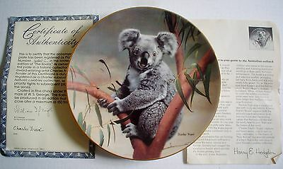 W S George Fine China Collectors Plate THE KOALA From NATURES LOVABLES #2