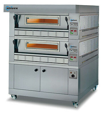 Univex PSDG-2A Double Deck Pizza Stone Deck Gas Oven