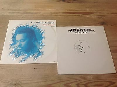 Luther Vandros 2 X Vinyl 12 Inch Single Offer Inc Power Of Love Dj Only Single*