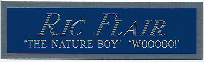 RIC FLAIR WWE WCW WWF NAMEPLATE FOR AUTOGRAPHED Signed TRUNKS-ROBE-PHOTO-SHIRT