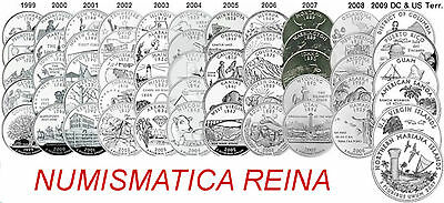 Estados Unidos   Usa   25 Cents Quarter Estados 1999-2009 Ceca D - P
