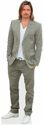 Brad Pitt Cardboard Cutout (life size OR mini size). Standee. Stand Up.