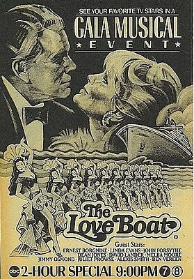 1984  Linda Evans~The Love Boat Gala Musical Event ABC tv stars Art Promo ad