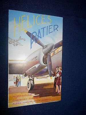 Ancien Catalogue Depliant Publicite Helices Ratier Avion Aviation