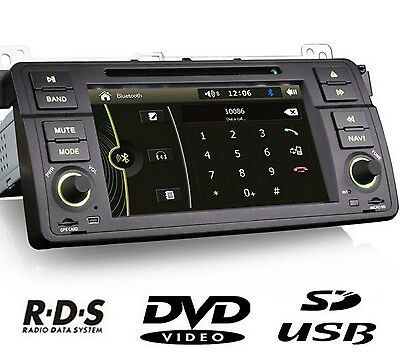 autoradio bmw e46, bluetooth Gps, + Carte France/ Europe  + CAMERA Recul
