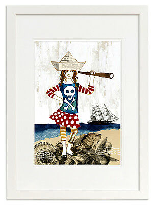 NEW Pirate Anna open edition print Girl's by Little Branch