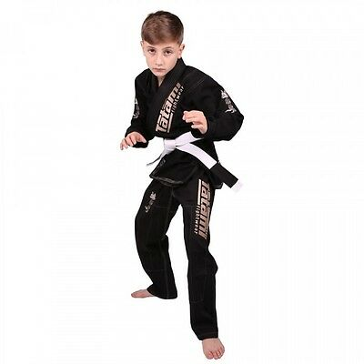 New Tatami Animal Kids Brazilian Jiu Jitsu Gi Jiu-Jitsu MMA BJJ w Belt  Black M2