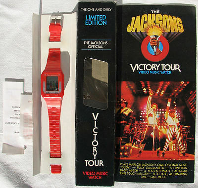 Michael Jackson Montre Musicale VICTORY TOUR Video Music Watch 1984 FAULTY