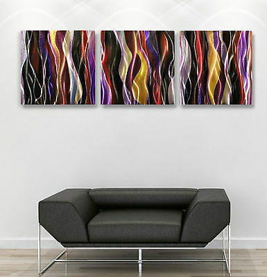 Metal Modern Abstract Wall Art Original painting Contemporary sign