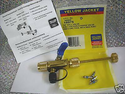 "Yellow Jacket, 1/4"", R12, R22, 4 IN 1, Ball Valve Tool, Ritchie Part# 18975"