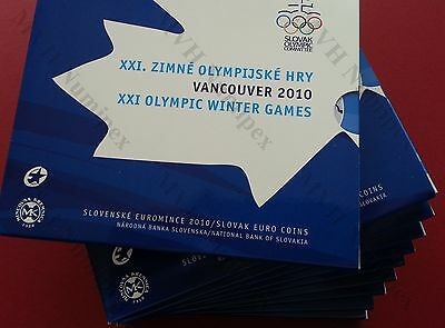 Slovakia Slowakei 2010 KMS -Lot 10Stück- Official mint Set Olympia in Vancouver