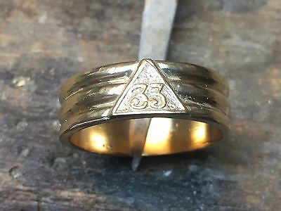 Gents 10Kt Yellow Gold 33rd Degree Ring
